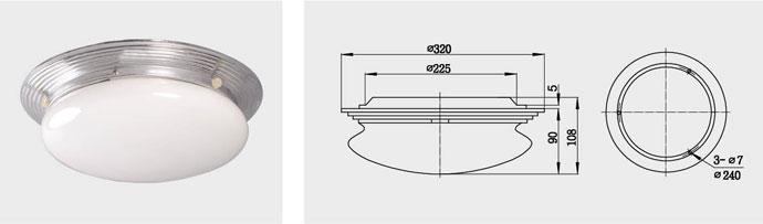 CPD1-2、CPD1-2B 双泡蓬顶灯