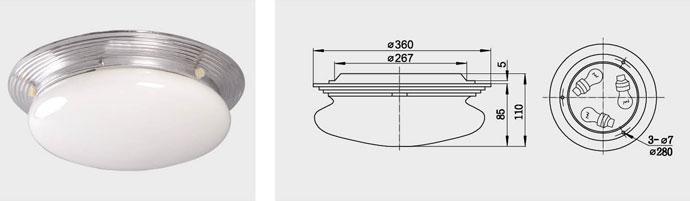 CPD1-3 三泡蓬顶灯