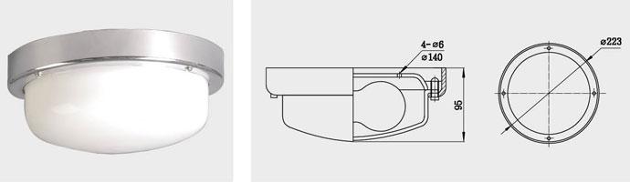 CPD8、CPD8-B 单泡蓬顶灯