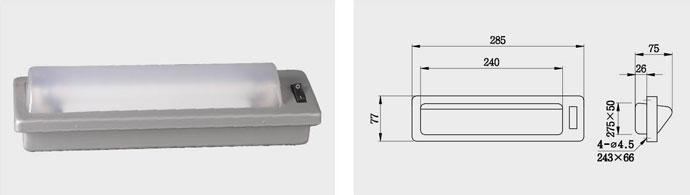 CKS16 6W 单管荧光床头灯