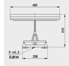 CTD23 15W 单管荧光软梗台灯