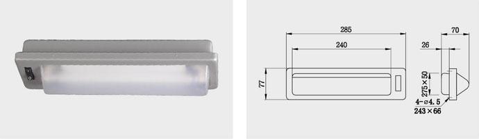 CBD16 6W 单管荧光镜前灯
