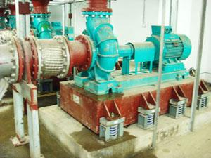 水泵安装BT3型减振器及RGF型金属软管