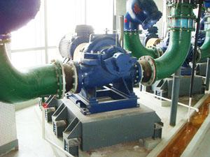 水泵使用BT3型减振器和同心异径橡胶挠性接管