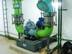 水泵使用AT1弹簧减振器及BGF型波纹补偿器