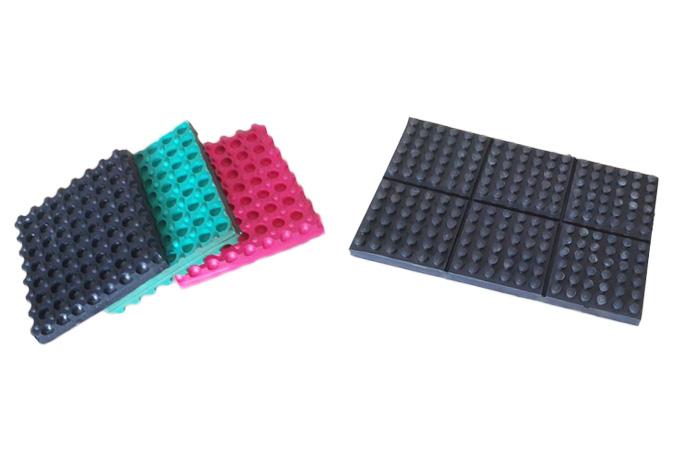 XJD型橡胶减振垫/JT型多点式橡胶隔振垫