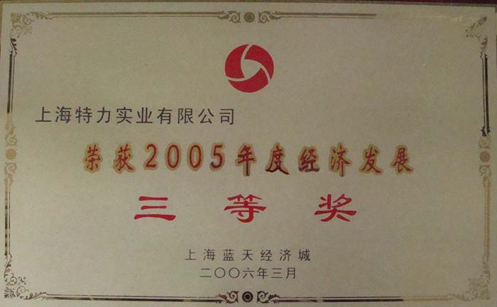 05年經濟發展三等獎