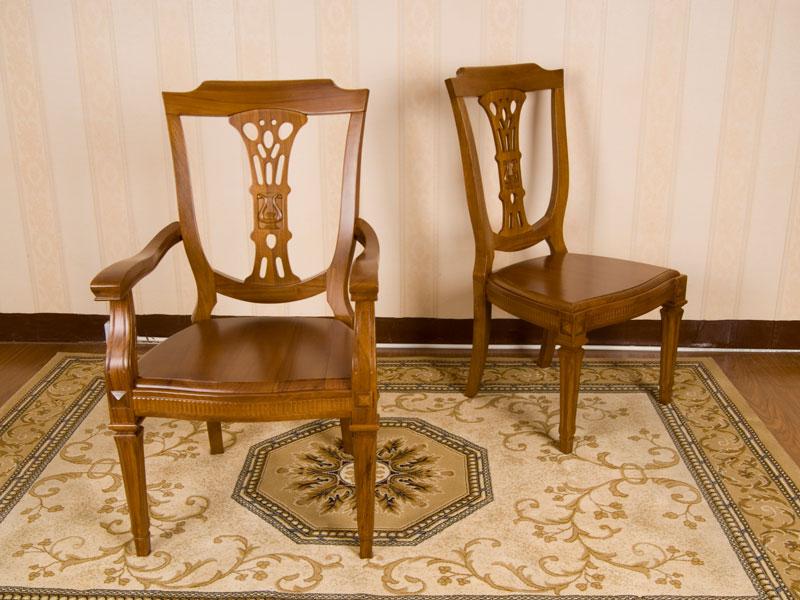 JY-188型餐椅+扶手餐椅