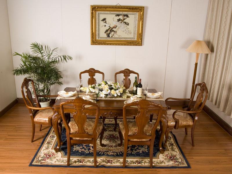 JY-306型餐桌椅一套1.7米