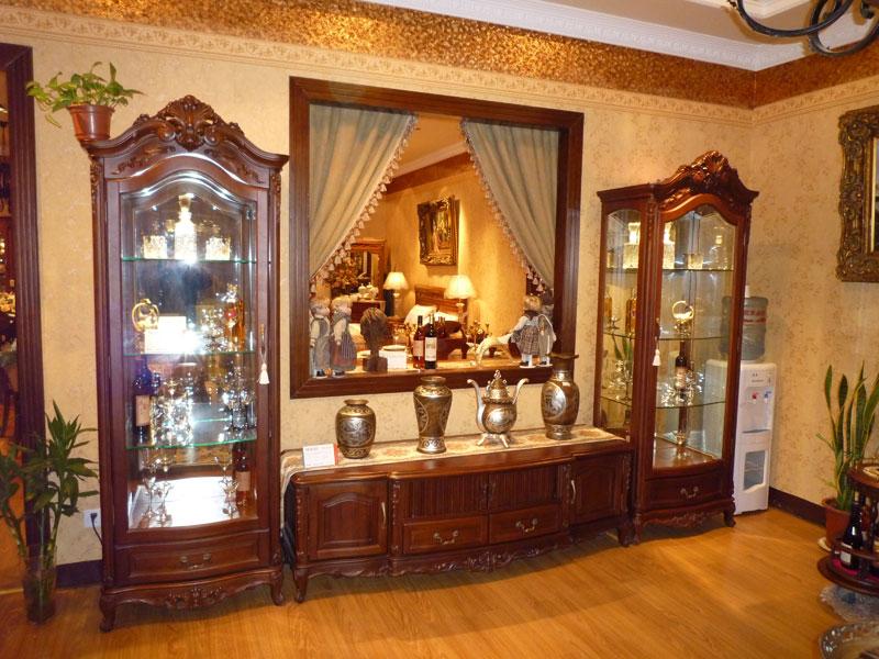 JY-306型装饰玻璃柜+厅电视柜