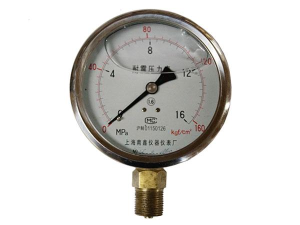 YN -B系列不銹鋼耐震壓力表(簡稱半鋼)