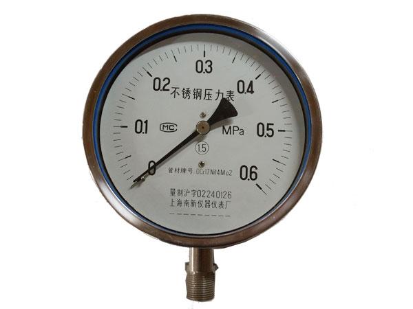 Y-B-F系列全不銹鋼耐震壓力表