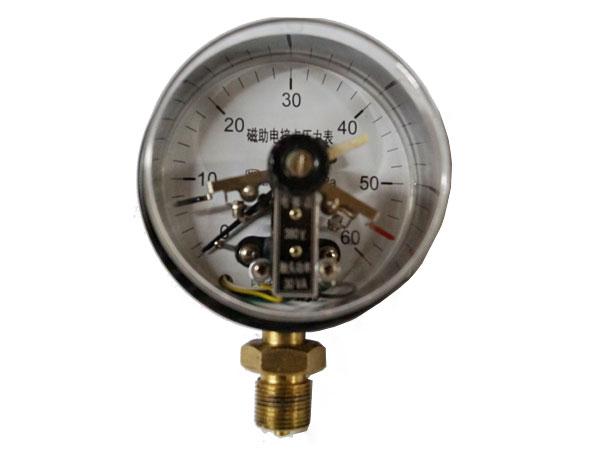 YXC-(1)磁助電接點壓力表(鐵表蓋)