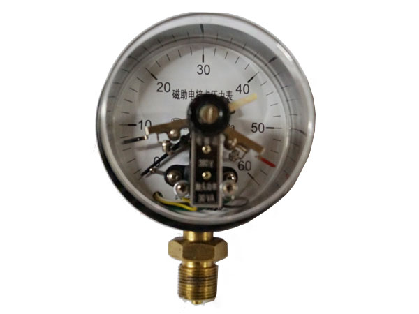 YXC-(1)磁助电接点压力表(铁表盖)