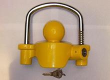 TM09黄色球罩型可调节式房车,车辆,游艇连接锁,拖车锁Trailer lock(编号C0024)