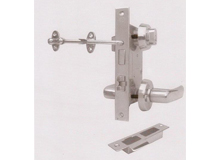 C1-B(长190)带防风钩船用防火门锁,OHS-2320船用锁,cabin lock with hook keep ventilation(编号10091)