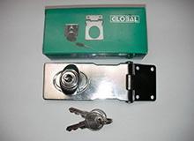 4寸铁匙搭扣型工具箱锁,箱柜锁,橱门锁,展示箱锁,锁扣hasp lock(编号20145)