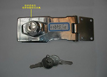 4寸室外用防水搭扣型箱柜锁,橱门锁,锁扣,工具箱锁,展示箱锁,Hasp Lock(编号20154)