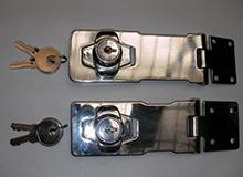 4.5寸外装型铰链锁,搭扣锁,箱扣锁,双门橱门锁,橱柜锁hasp lock(编号20141)