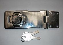 4寸箱扣型单门箱柜锁,双门橱门锁,工具箱锁,展示箱锁,,hasp lock编号20140)