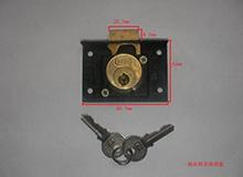 CB-S11低锁头船用抽屉锁,Φ22×23铜头铜舌船用锁(编号10062)