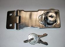 3寸箱扣型单门双门橱柜锁,橱门锁,锁牌锁,工具箱锁hasp lock(编号20139)