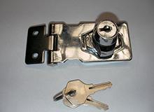 2.5寸外装搭扣型单门双门橱门锁,橱柜锁,箱柜锁,锁牌锁,hasp lock(编号20088)