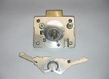 CB-S11A高锁头船用抽屉锁,Φ22×23铜头铜舌橱门家具锁,Drawerlocks(编号10015)