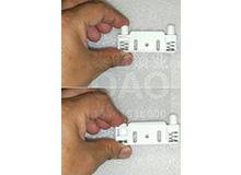 C6-Z抽屉锁橱门橱柜锁家具锁专用折弯带阻尼缓冲静音型锁片锁扣(编号10139)