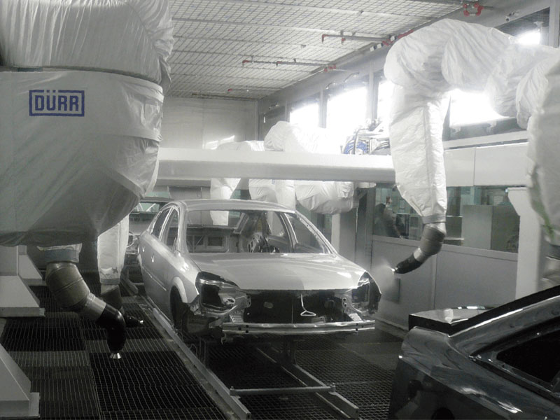 涂装工厂的电流监控