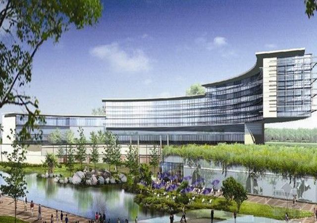 上海国际医学园区实验基地 2008年3-7月 1万㎡ 膨胀聚苯板外墙外保温涂料系统
