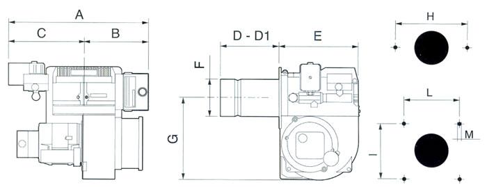 燃烧机接线电路图