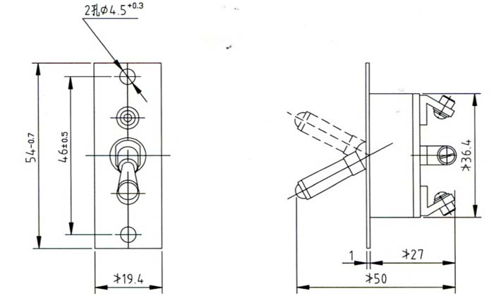 azk-1钮子开关为按压转换开关,是用于直流电气系统中,对电路