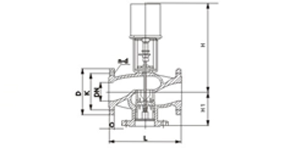 驱动器是由可逆同步马达驱动,并带磁性离合器。马达通过马达转子与离合器所产生的磁性作用,能在停顿的情况下产生的磁性作用,能 在停顿的情况下产生稳定的扭力。故此当马达没有电流通过时能稳定地停顿在任何一点,当阀门全开或全关时磁离合器分离,停止调节。 驱动器的递增式或比例式控制器所发讯号能使马达顺时转动或逆时转动。